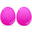 pink easter eggs vector image vector image