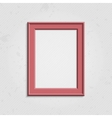 Pink modern picture frame vector image vector image