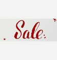 sale handwritten lettering of dry brush original vector image vector image