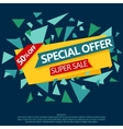 Sale special offer paper banner vector image vector image