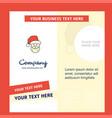 santa clause company brochure template busienss vector image vector image