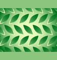 seamless pattern with leaf shapes background vector image vector image