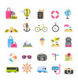 set icons for travel and tourism active vector image