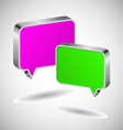 Set of 3D speech icons vector image vector image