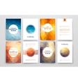 Set of brochures in poligonal style on Presidents vector image vector image