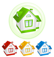 simple color house icons vector image vector image
