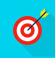 sport target flat icon vector image vector image