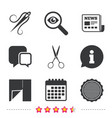 Textile cloth piece icon scissors hairdresser