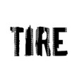tire offroad lettering vector image vector image