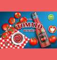 tomato ketchup advertising for your design vector image