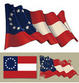 waving flag of the confederate states of america vector image vector image