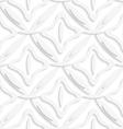 White ovals layered and squares seamless pattern vector image vector image
