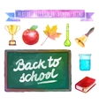 Back to school Watercolor with vector image