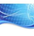 blue high-tech background with waves vector image