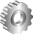 isolated metal sprocket vector image