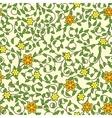 Vintage seamless pattern of weaving flowers vector image