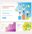 achieving business excellence essential skills vector image vector image