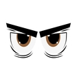 angry cartoon eyes icon vector image vector image