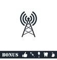 antenna icon flat vector image vector image