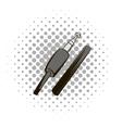 Audio plug comics icon vector image