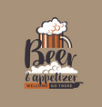 banner with glass of beer pointer and inscription vector image