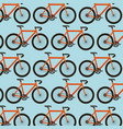 bicycle sport transport touring seamless pattern vector image vector image