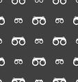 binoculars icon sign Seamless pattern on a gray vector image vector image