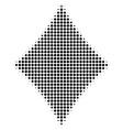 black dot diamonds suit icon vector image