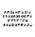 black of stylized modern font and alphabet vector image vector image