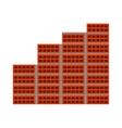 bricks wall construction icon vector image