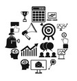 business banking and office icons set vector image vector image