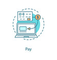 cashless payment concept icon vector image vector image
