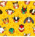 Chinese Zodiac Yellow Gold Polka Dot Background vector image vector image