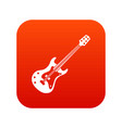 classical electric guitar icon digital red vector image vector image