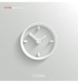 Clock icon - white app button
