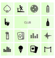 club icons vector image vector image
