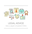 Concept of title site page or banner for legal vector image