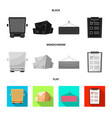 design of goods and cargo sign collection vector image vector image