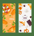 european cuisine restaurant menu banner vector image