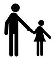 father and daughter icon vector image vector image