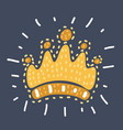filigree high detailed imperial crown vector image