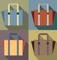 Flat Design Tote Bags vector image vector image