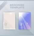 flyer brochure design template cover business vector image vector image