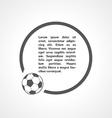 football symbol and circle vector image vector image