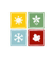 four seasons year vector image vector image