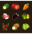Glossy vegetable set vector | Price: 3 Credits (USD $3)