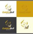 golden bull logo and icon vector image