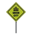 Green city road sign vector image vector image
