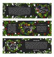 greeting banners of spring season flowers vector image vector image