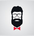 hipster with beard wearing in retro sunglasses vector image vector image